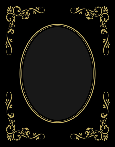 11x14 victorian gold on black oval framing poster mats